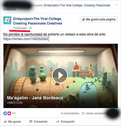 publicidad intrusiva en facebook