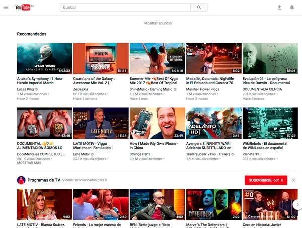 El nuevo diseño de Youtube