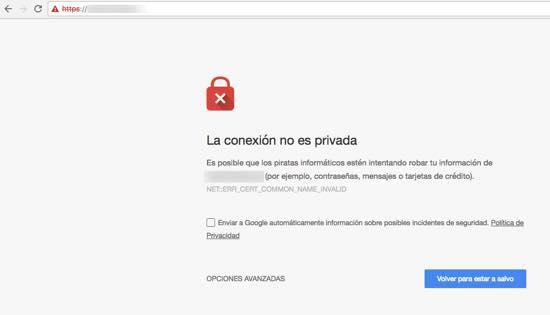 penalización por no tener un certificado ssl en su web