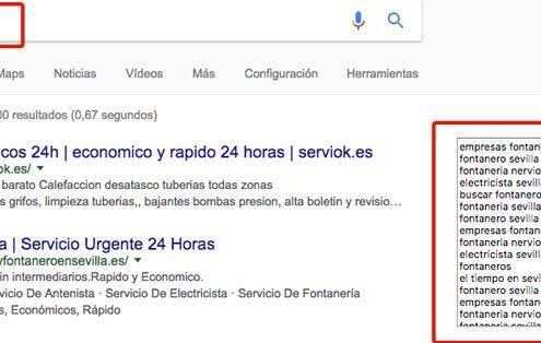 En el cuadro puedes ver las búsquedas más usadas o relacionadas