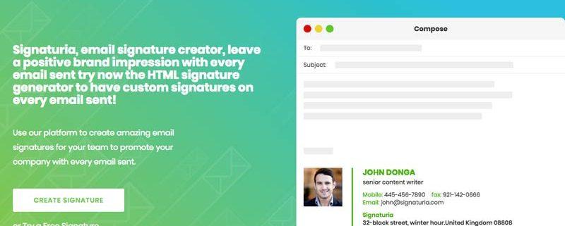 editor online de firmas de correo electrónico