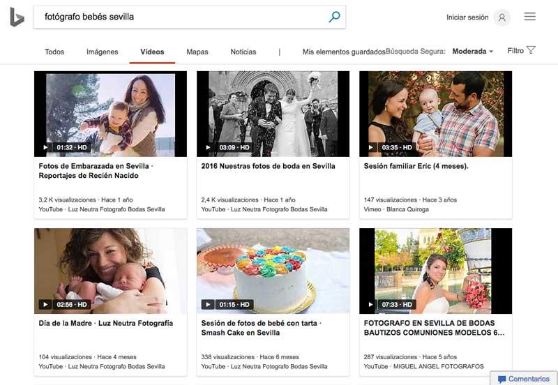El buscador de vídeos de Bing es al menos igual de competente que el de Google, pero presenta una mejor estética a los usuarios