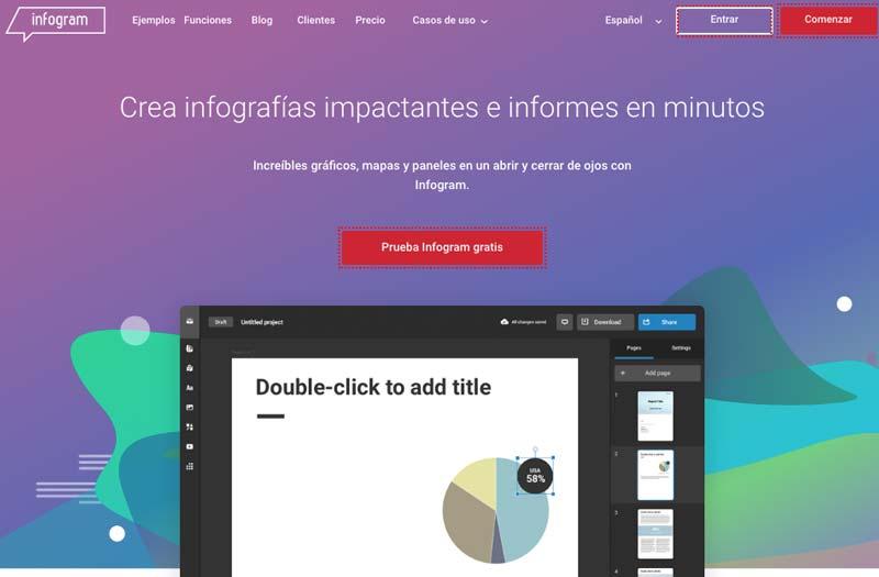 herramientas para crear infografias para su website