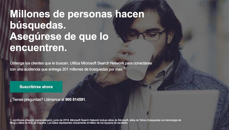 Como hacer anuncios en Microsoft Bing