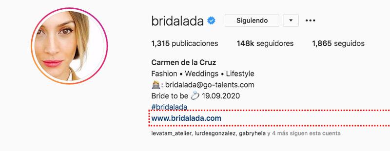 Completa tu perfil para mejorar tu Seo en Instagram