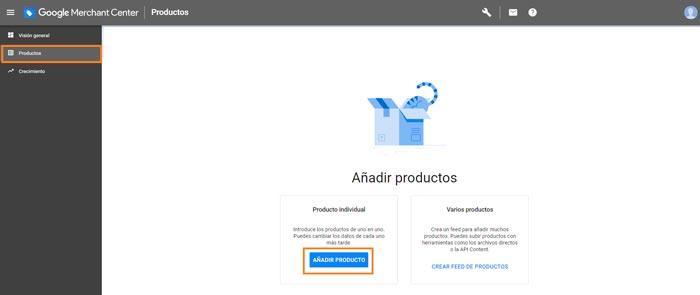 Crear campañas de Google Shopping