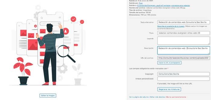 Editar imágenes en WordPress para Seo · Consultoria Seo Sevilla